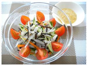 大麦とヒジキのサラダ