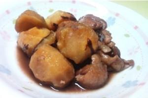 ~鶏肉と栗の煮物~
